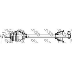 Приводной вал (GSP) 250311