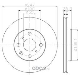 Тормозной диск (Hella) 8DD355112311
