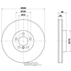 Тормозной диск (Hella) 8DD355119261
