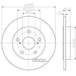 Тормозной диск (Hella) 8DD355118971