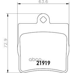 Комплект тормозных колодок, дисковый тормоз (Hella) 8DB355008961