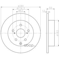 Тормозной диск (Hella) 8DD355118881