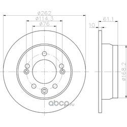 Тормозной диск (Hella) 8DD355118861