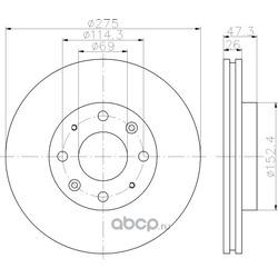 Тормозной диск (Hella) 8DD355111781