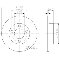 Тормозной диск (Hella) 8DD355105411