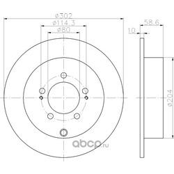 Тормозной диск (Hella) 8DD355119061