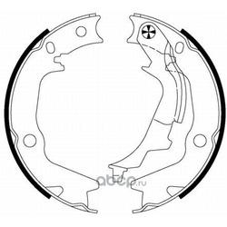 Комплект тормозных колодок, стояночная тормозная система (Hella) 8DA355050131