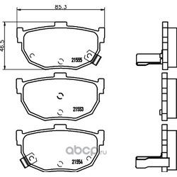 Комплект тормозных колодок, дисковый тормоз (Hella) 8DB355029491