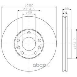 Тормозной диск (Hella) 8DD355116151