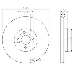 Тормозной диск (Hella) 8DD355107221
