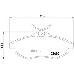 Комплект тормозных колодок, дисковый тормоз (Hella) 8DB355010161