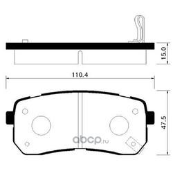 Колодки тормозные дисковые задние к-т (HSB) HP1037