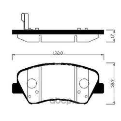 Колодки тормозные дисковые передние к-т (HSB) HP0045