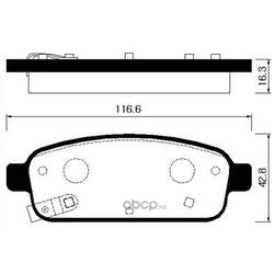 Колодки тормозные дисковые задние к-т (HSB) HP2022