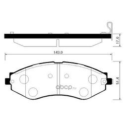 Колодки тормозные дисковые передние к-т (HSB) HP2012