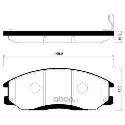 Колодки тормозные дисковые передние к-т (HSB) HP0014