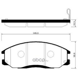 Колодки тормозные дисковые передние к-т (HSB) HP0024