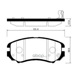 Колодки тормозные дисковые передние к-т (HSB) HP0037