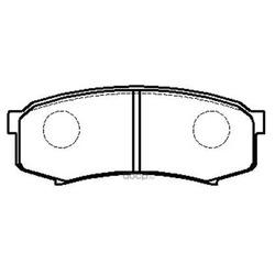 Колодки тормозные дисковые задние к-т (HSB) HP5037
