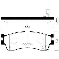 Колодки тормозные дисковые передние к-т (HSB) HP1008