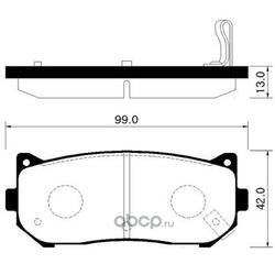 Колодки тормозные дисковые задние к-т (HSB) HP1009
