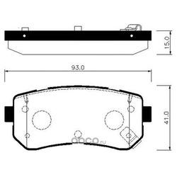 Колодки тормозные дисковые задние к-т (HSB) HP1048