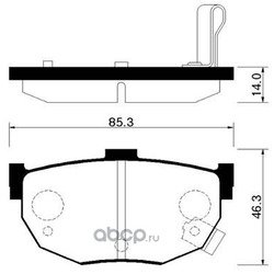 Колодки тормозные дисковые задние к-т (HSB) HP0021