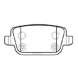 Колодки тормозные дисковые задние к-т (HSB) HP9971
