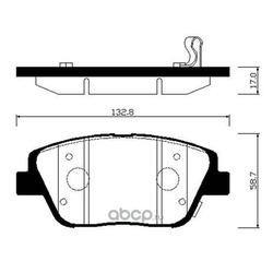 Колодки тормозные дисковые передние к-т (HSB) HP1045