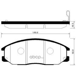 Колодки тормозные дисковые передние к-т (HSB) HP4007