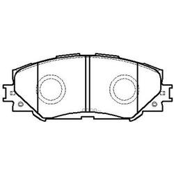 Колодки тормозные дисковые передние к-т (HSB) HP5176