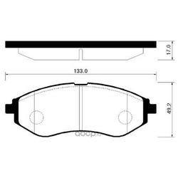 Колодки тормозные дисковые передние к-т (HSB) HP2011