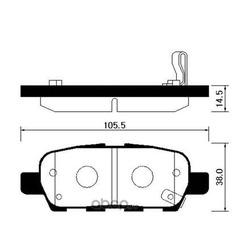 Колодки торм. (HSB) HP3007