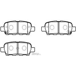 Колодки тормозные дисковые задние к-т (HSB) HP5162
