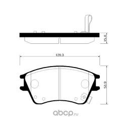 Колодки тормозные дисковые передние к-т (HSB) HP0020