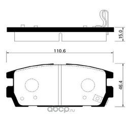 Колодки тормозные дисковые задние к-т (HSB) HP0023
