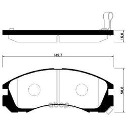 Колодки тормозные дисковые передние к-т (HSB) HP0025