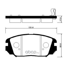 Колодки тормозные дисковые передние к-т (HSB) HP0031