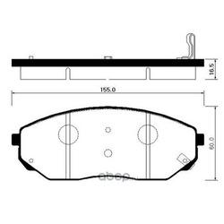 Колодки тормозные передние (Hyundai-KIA) 581013EE01