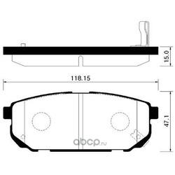 Колодки тормозные дисковые задние к-т (HSB) HP1018