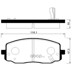 Колодки тормозные дисковые передние к-т (HSB) HP1025