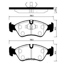 Колодки тормозные дисковые передние к-т (HSB) HP2004