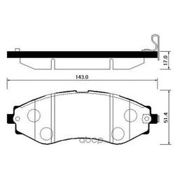 Колодки тормозные дисковые передние к-т (HSB) HP2008
