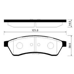 Колодки тормозные дисковые задн CHEVROLET: EPICA 06-, EVANDA 06- (HSB) HP2009
