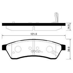 Колодки тормозные (HSB) HP2016