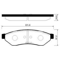 Колодки тормозные дисковые задние к-т (HSB) HP2018
