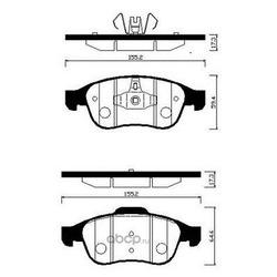 Колодки тормозные дисковые (HSB) HP3009