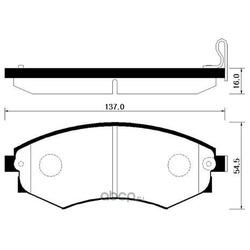 Колодки тормозные дисковые передние к-т (HSB) HP4001