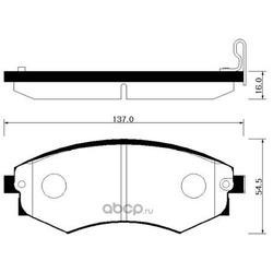 Колодки тормозные (HSB) HP4004