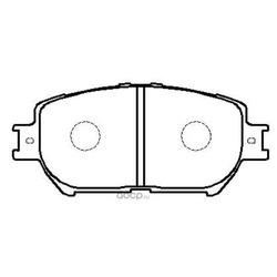Колодки тормозные дисковые передние к-т (HSB) HP5053